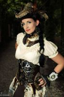 My Steampunk pirat outfit on the Elfia 2013. by S-T-A-R-gazer