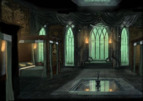 Slytherin Dorm by OriginalCopyCat1874