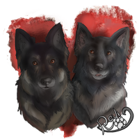 In Memory of ~The two Shepherds by ReviWolfe