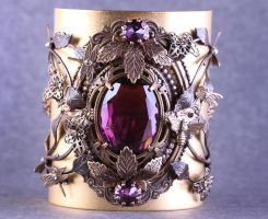 Gothic Cuff Inspired By Nature by byrdldy