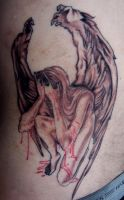 angel tattoo -WIP by DrMorgue