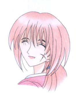 Smiling Kenshin by jeiro