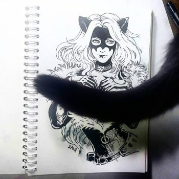 Instaart - Black Cat (NSFW optional) by Candra