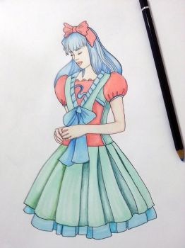 From Lolita Fashion Coloring Book by BasakTinli
