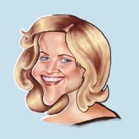 Caricature. R witherspoon by jonesmac2006