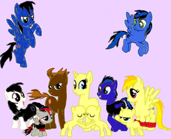 mah pony family in skype and youtube by nicoflare
