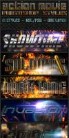 Action Movie Text Styles by ivelt