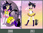 Sailor Luna 2008-2013 by Kymoon