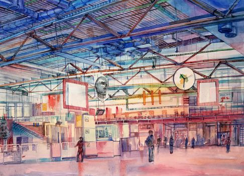 Pompidou Hall by Andette