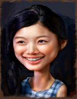 Kim Yu Jung caricature by ByunCaricature
