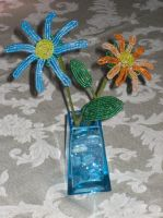 Assortment of Beaded Daisies by Natalie526