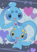 Manaphy and Phione Poster