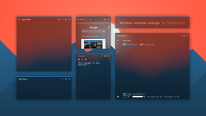 Windows' windows redesign by TheButterCat by TheButterCat