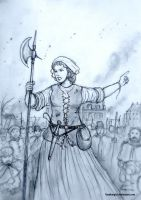 Jeanne Maillotte - 1581, French Wars of Religion by Gambargin