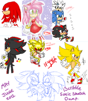 May/June - iScribble - Sonic Sketch dump by BlueNeedle-Inu