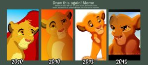Simba through the ages by QuillElizabeth