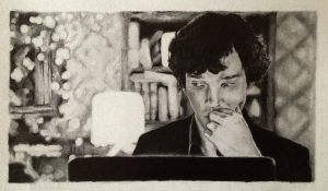 Sherlock was complaining...saying by Becca-Jellybean