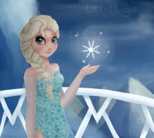 Frozen, Let it go by Drawing-Heart
