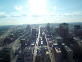 St. Louis from the arch #1 by kitty1321