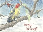 Holiday Card Project: Western Tanager by Aki-rain
