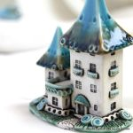 Turquoise-Brown fairy house by vavaleff