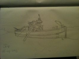 20130708 Ship by SketchDailyChallenge