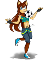 Laura play football+SP by Laurathedog
