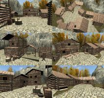 [MMD] Mountain village [download] by Wampa842