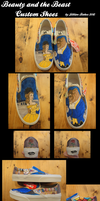 -C- Beauty and the Beast Custom Shoes by MsJillyJelly