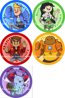 Bravest Warriors Buttons! by FauxBoy