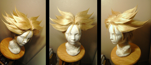 Trunks Saiyan wig commission by maggifan