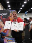 Harley,  Supes and Spidey doodles - SDCC 2015 by aethibert