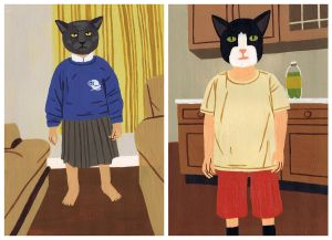 Family Cats by Teagle