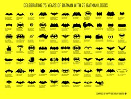 75 Years of Batman Logos by HappyBirthdayRoboto
