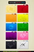 10 Stylish Folder Icons by Solonir