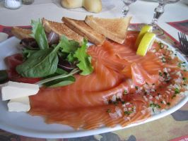 Salmon plate by Santian69