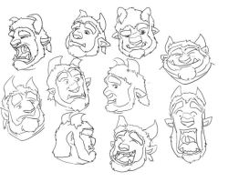 Sketchy Ted Expression Sets by Taniadragon