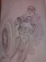 mrs. captain america by galis33