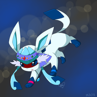 Art Trade: Shine the Glaceon by Bluekiss131