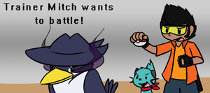 Trainer Mitch Wants to Battle by BuizelKnight