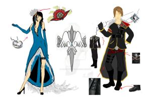 Sorceress rinoa and SeeD Leader Squall by MercyMurrain