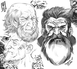 Sketches Of Old Men by CyrilGlerumArt