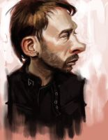 Thom Yorke caricature video by DevonneAmos