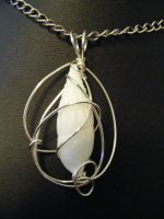 simple wrapped shell pendant 4 by BacktoEarthCreations
