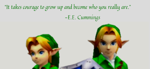 It takes courage to grow up... by scriptureofthescribe