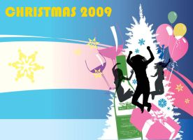 chistmas party template by kwee85