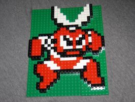 Sample - Cutman Lego Mosaic by rickcressen