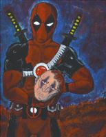Deadpool vs. Weapon XI by sebatman