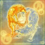 Wolves of Moon and Sun by yuumei