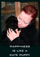 Happyness is like a Cute Puppy by Dualx